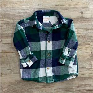 Baby boy flannel shirt